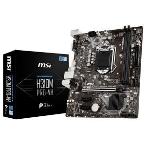 MSI MS-H310M PRO-VH LGA 1151 (300 Series) Intel H310 HDMI SATA 6Gb/s Micro ATX Intel Motherboard