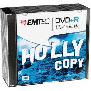 Emtec ECOVPR471016SL 4.7GB DVD + R 10pc (s) Blank DVD - Blank DVDs (4.7 GB, DVD + R, 10 pcs (s), 120 min, Silver, 16x)