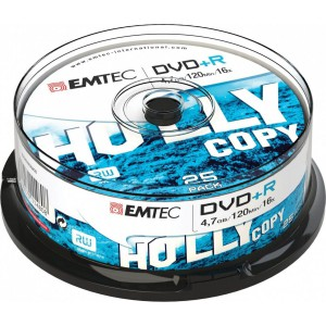 Emtec ECOVPR472516CB DVD + R 4.7GB 16x Cake 25 Pieces