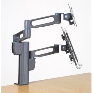 Kensington K60900US Dual-Monitor Arm Bracket with SmartFit Pillars Black