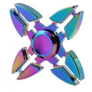 Tuff-Luv H996  Colourize Fidget Spinner with High speed Bearing - Quad Star