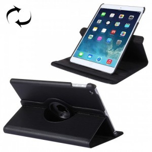 Tuff-Luv I7_71   Rotating Leather Case Cover and Stand for Apple iPad 9.7 2017 and Air 2 - Black