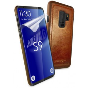 Tuff-Luv I6_71  Magnetic Shell for Samsung Galaxy S9 - Brown