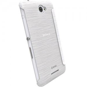 Krusell 90070 BodenFlip Cover for the Sony Xperia E4/E4 Dual - Transparent White