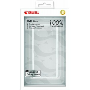 Krusell 61126 Kivik Cover for Samsung Galaxy Note 8 - Transparent