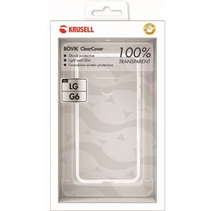 Krusell 61020 Bovik Protective Cover for LG G6 - Clear