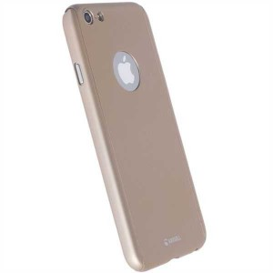Krusell 60769 Arvika Cover For the Apple iPhone 7 Plus - Gold (Includes Glass Screen Protector)