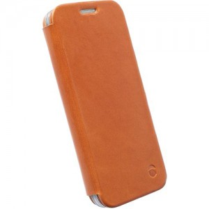 Krusell 76119  Kiruna Flip Case for the Samsung Galaxy S6/S6 Edge - Camel