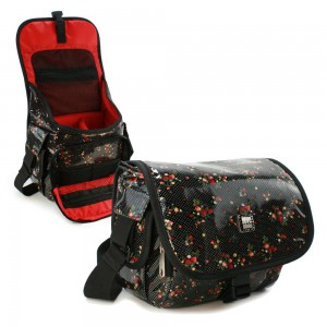 Tuff-Luv  H9_30  Rockabetty DSLR / Digital Compact Camera Case Hipster Oil Cloth - Black