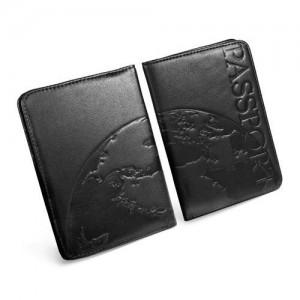Tuff-Luv G1_28 Genuine Leather Passport Holder (Black)
