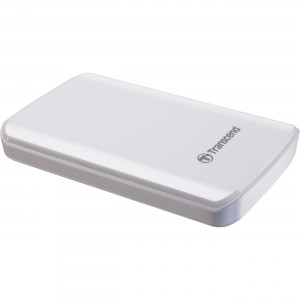 Transcend 1 TB 2.5-Inch USB 3.0 Super Speed Portable External Hard Drive - White