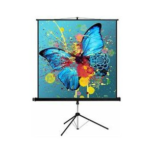 Esquire CSS150 Tripod Projector Screen - Square format 150 x 150