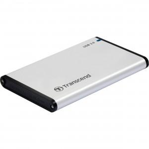 """Transcend StoreJet 2.5"""" USB3.0 SATA3 Aluminium Hard Drive Enclosure"""