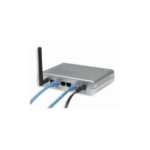 Intellinet 502566 Wireless Super G 108Mbps Router with 4-port Fast Ethernet  LAN Switch