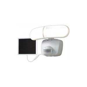 Eaton 180 Degrees Twin Head Motion Sensor Solar LED Floodlight - White