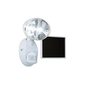 Eaton MSLED180W 180 Degrees Motion Sensor Twin Solar Powered LED Floodlight - White