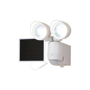 Eaton 130 Degrees Motion Sensor Twin Head Solar LED Floodlight - White