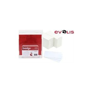Evolis CBGC0030W CR80 Blank 100 Pack PVC White Cards