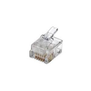 Intellinet 502344 100-Pack Cat6 RJ45 Modular Plugs