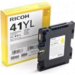 Ricoh GC41YL Yellow Cartridge with yield of 600 pages
