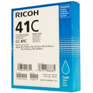 Ricoh GC41C Cyan Cartridge with yield of 2200 pages