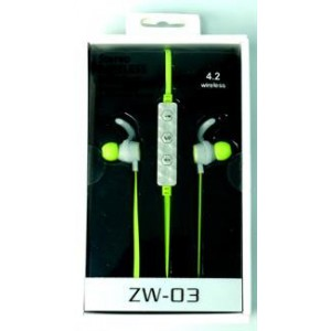 Geeko ZW-03-GRN Wireless Bluetooth Earphones