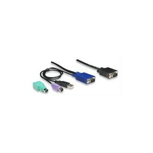 Intellinet 375399 KVM Cable,USB + PS/2 ,3.0m (10.ft.)