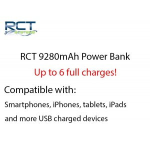 RCT 9280mAh Power Bank - Up to 6 full charges