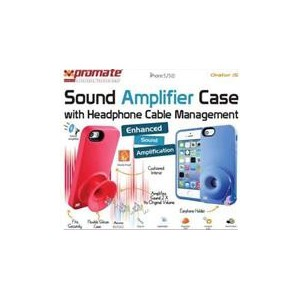 Promate 6959144004990  Orator-I5 iPhone 5 Sound Amplifier case for Iphone 5/5s with Headphone Cable Management - Blue
