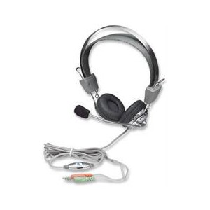 Manhattan 175517 Stereo Headset + Microphone with in-line Volume Control