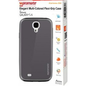 Promate  6959144000824  Karizmo-S4 Elegant Flexi-Grip Case for Samsung Galaxy S4 - Grey