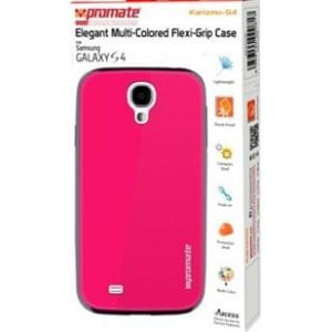 Promate   6959144000831  Karizmo-S4 Elegant Flexi-Grip Case for Samsung Galaxy S4 - Pink