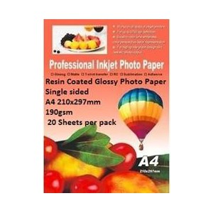 E-Box ERCGS-190GSM-20 Resin Coated Glossy Photo Paper