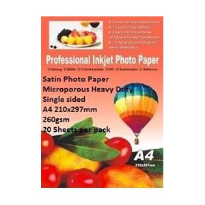 E-Box ESMPS-260GSM-20 Satin Photo Paper