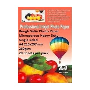 E-Box ERSS-260GSM-20 Rough Satin Photo Paper