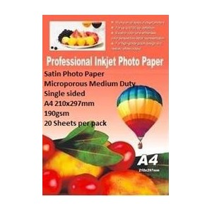E-Box ESMPS-190GSM-20 Satin Photo Paper