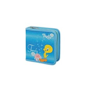 Tweety W50001-C-BLUE 40 CD Wallet Colour - Blue