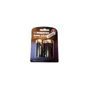 Manhattan 419284 Super Alkaline Battery - C, 2 Pack