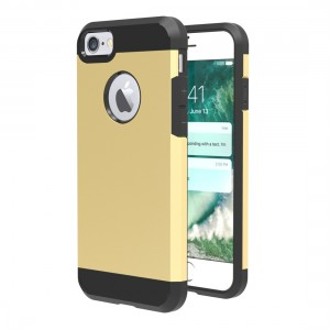 Tuff-Luv F3_82 Slim Armour Twin Layer TPU Gel Case for iPhone 7 - Gold