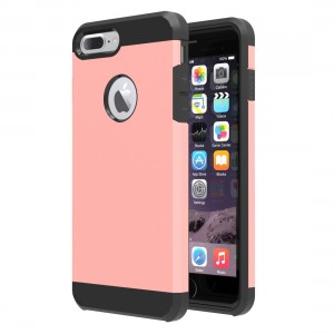 Tuff-Luv  F3_86 Slim Armour Twin Layer TPU Gel Case for iPhone 7 Plus - Rose Gold
