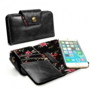 Tuff-Luv D2_86  Alston Craig - Ladies Magnetic Case For the Apple iPhone 7 Plus - Black Secret Garden