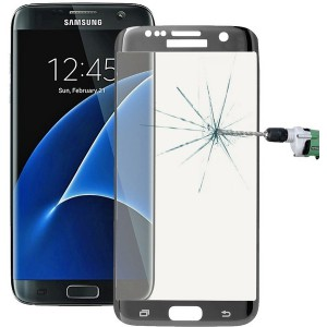 Tuff-Luv  E9_64  Tempered Curved Glass Protection (Full Size) for the Samsung Galaxy S7 Edge  - Silver