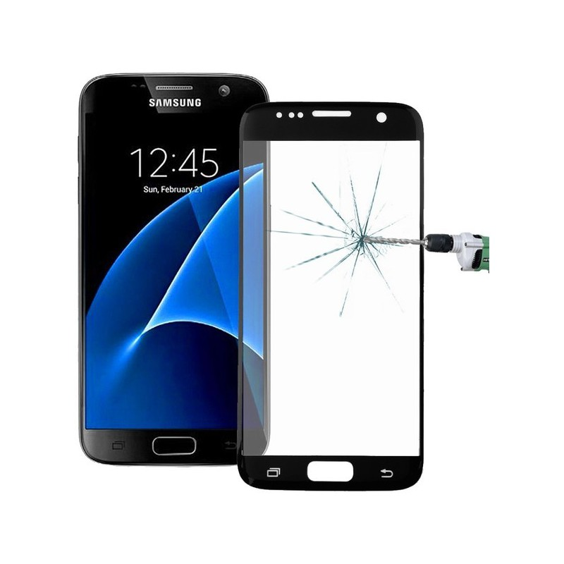 Tuff-Luv I8_73 Tempered Glass Screen Protection for Galaxy S7 - Black