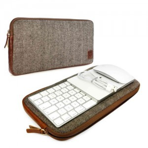 Tuff-Luv  J15_20 Herringbone Tweed Travel Case for Apple Accessories (Magic Keyboard 1 & 2 / Mouse 1 & 2 / Trackpad 1 & 2)