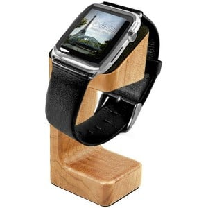 Tuff-Luv  G6_58  Moulded Wood Charging Stand for Apple Watch (Series 1 / 2 - Oak Effect)