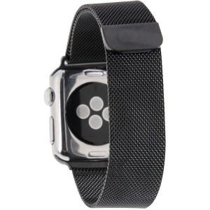 Tuff-Luv  D3_58  Milanese Loop Magnetic Stainless Steel Watchband for Apple Watch 38mm - Black (Series 1 / 2)
