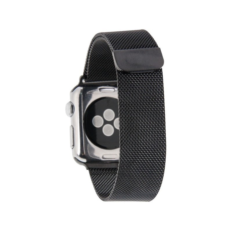 Tuff-Luv  D3_58  Milanese Loop Magnetic Stainless Steel Watchband for Apple Watch 38mm - Black (Series 1 / 2)