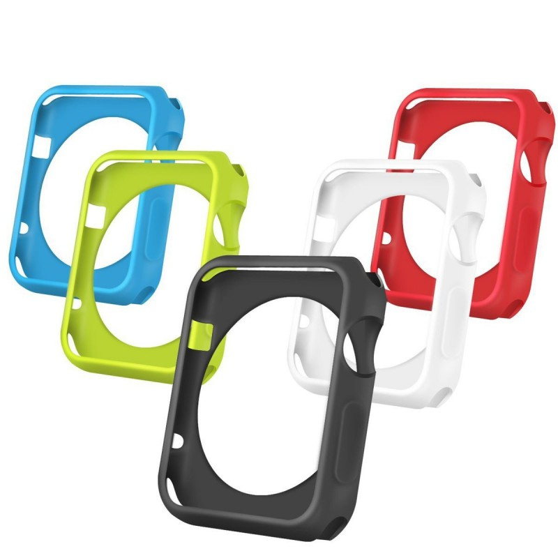 Tuff-Luv  3WATORZFP5IN138  Orzly 5-in-1 FacePlate Pack for Apple Watch Series 1