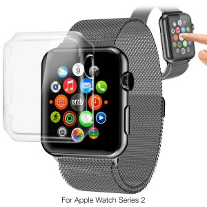 Tuff-Luv 3WAT2GINVISIPACK38 Orzly InvisiCase 3-in-1 Pack for Apple Watch Series 2