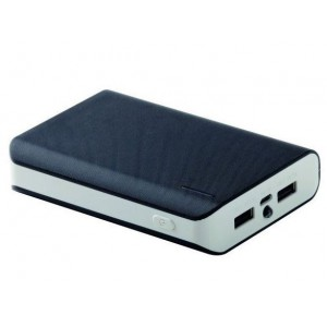 Amplify AMP-9000-BKGR Pro Spark Series 10000mAh Power Bank,Black & Grey